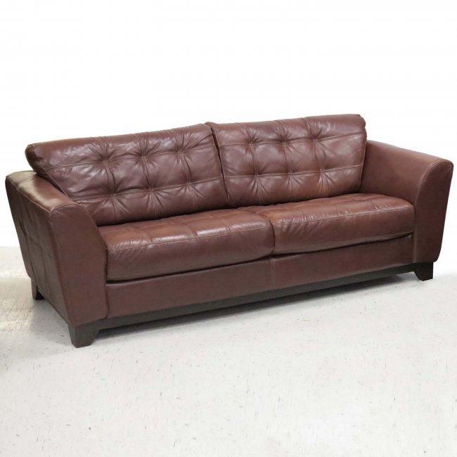 Divani Italy Leather Sofa Lot 199
