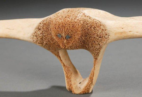 Alaskan native american whale bone carving in lot