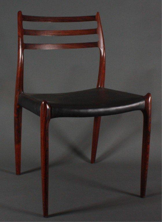 40: 7 Niels / J.L. Moller Danish Modern Dining Chairs. : Lot 40