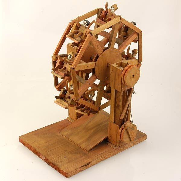 american folk art ferris wheel