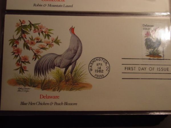 69250 69250 Fdc Pcs Birds And Flowers Of Our 50 States