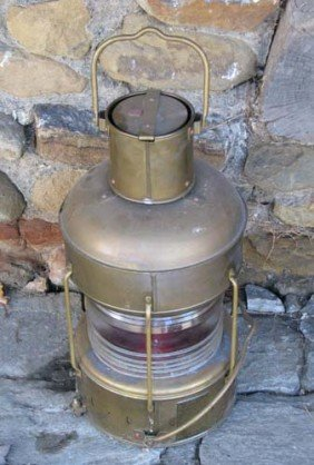 Vintage Old West Lantern Central Union  Pacific Railroad Oil Lamp