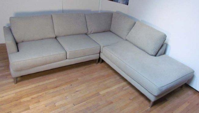 Carter Contemporary Sectional Sofa Lot 320