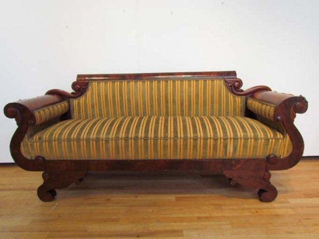 American Empire Sofa Lot 688