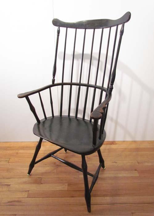 Antique Wooden Spindle Back Windsor Chair Lot 223