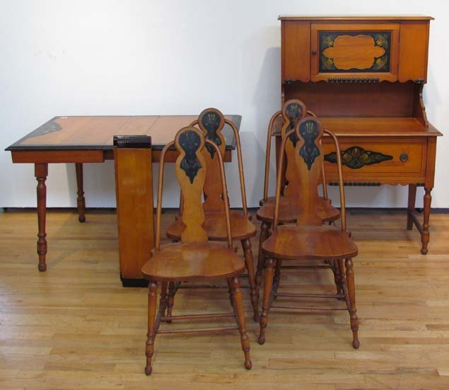Dining Room Furniture Phoenix: Phoenix Chair Co Art Nouveau Dining Room Set, 4 Chairs