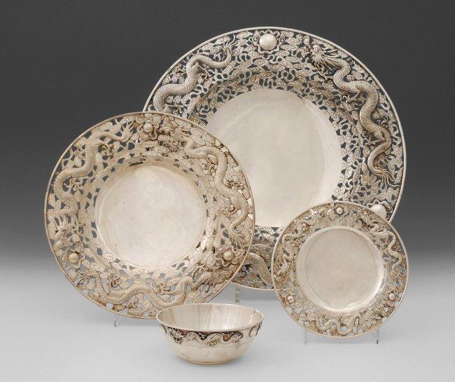 GeschirrSets China, 1 H 20 Jh Silber  Lot 1201 ~ Geschirr Set
