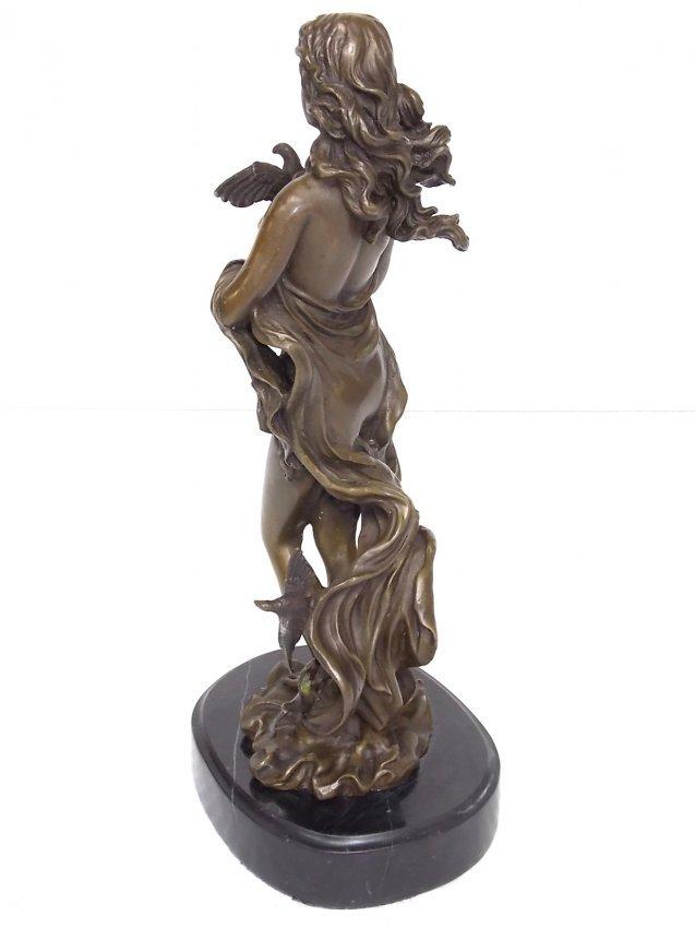 bronze greek goddess quotaphroditequot statue w marble base
