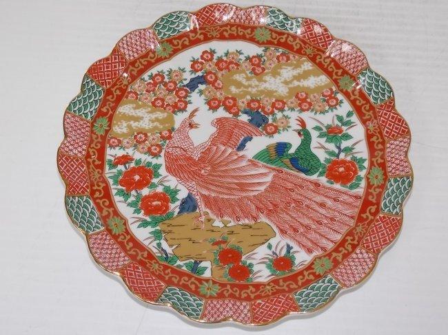 dating japanese imari charger plate