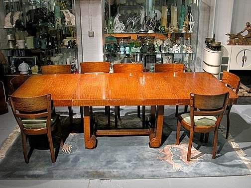 Tiger Maple Dining Room Table