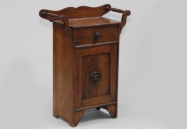 378 small antique commode cabinet lot 378. Black Bedroom Furniture Sets. Home Design Ideas