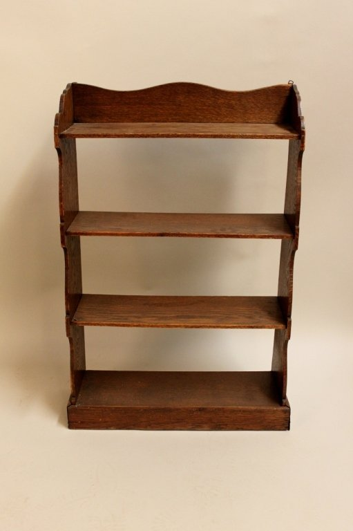english provincial oak hanging bookcase lot 28