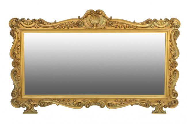 A large italian baroque style carved and gilded mirror for Gilded baroque mirror