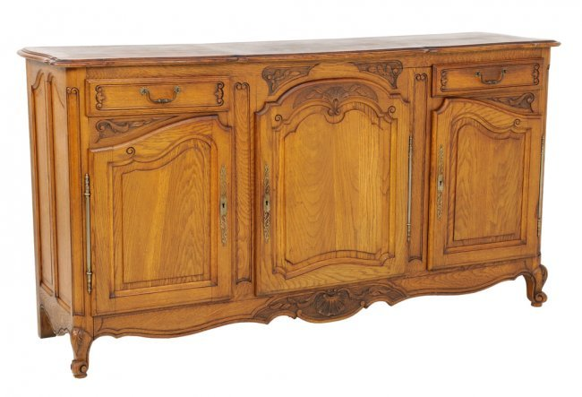 An antique louis xv style buffet enfilade with shell lot 132 - Buffet enfilade vintage ...