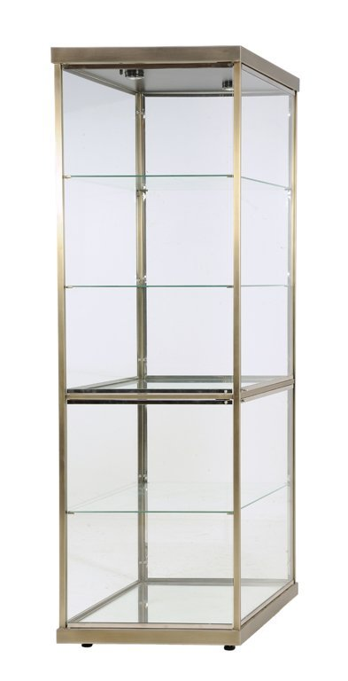 a moderne diamond shaped glass vitrine display case lot 231. Black Bedroom Furniture Sets. Home Design Ideas