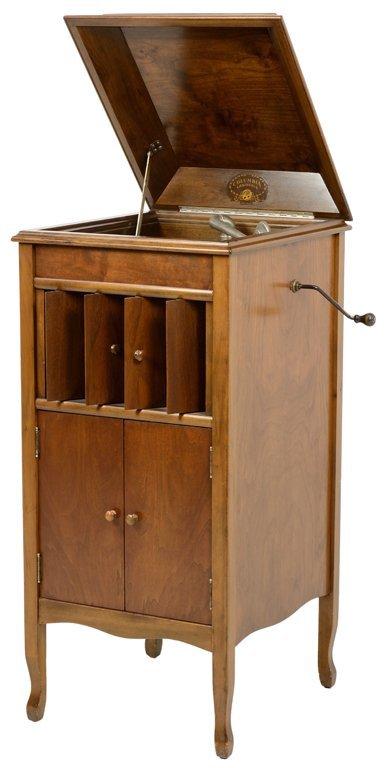 An Antique Columbia Quot Grafonola Quot Cabinet Gramophone Lot 12