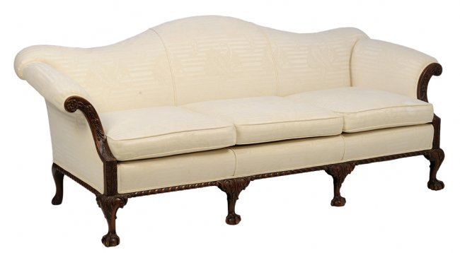 A Chippendale Style Camelback Sofa Lot 42