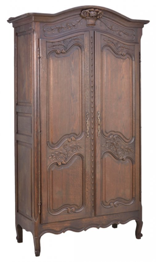 a french louis xv style armoire lot 379. Black Bedroom Furniture Sets. Home Design Ideas