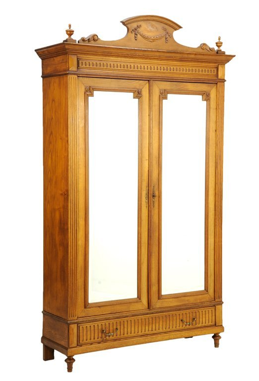 a french louis xvi style armoire lot 389. Black Bedroom Furniture Sets. Home Design Ideas