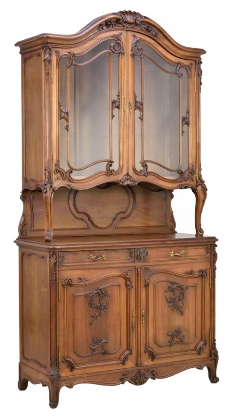 a french art nouveau style buffet a deux corps lot 421. Black Bedroom Furniture Sets. Home Design Ideas