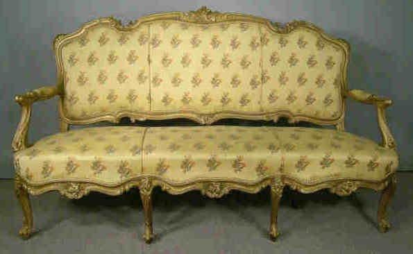 736 victorian french sofa gold louis xiv style lot 736 - Louis xiv sofa ...