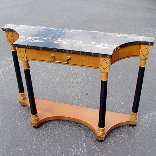 Foyer Table With Marble Top : Hekman marble top foyer table lot