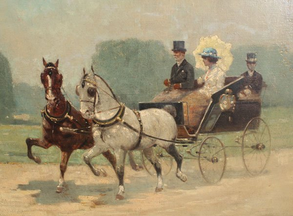 Horse Carriage Painting Horse Carriage Painting Img1 2