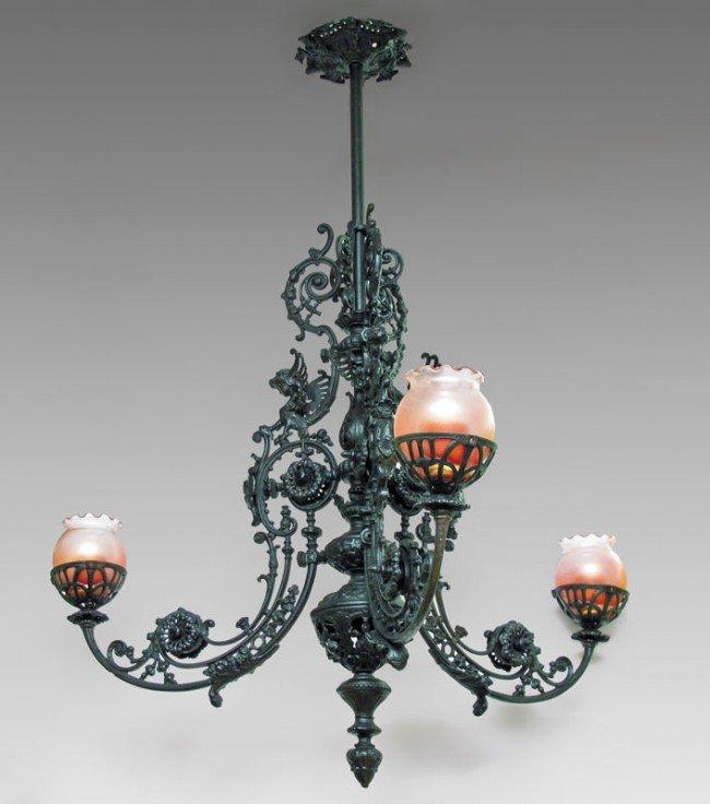 pendant cast kitchen hanging medium of wrought chandelier iron glass lights size