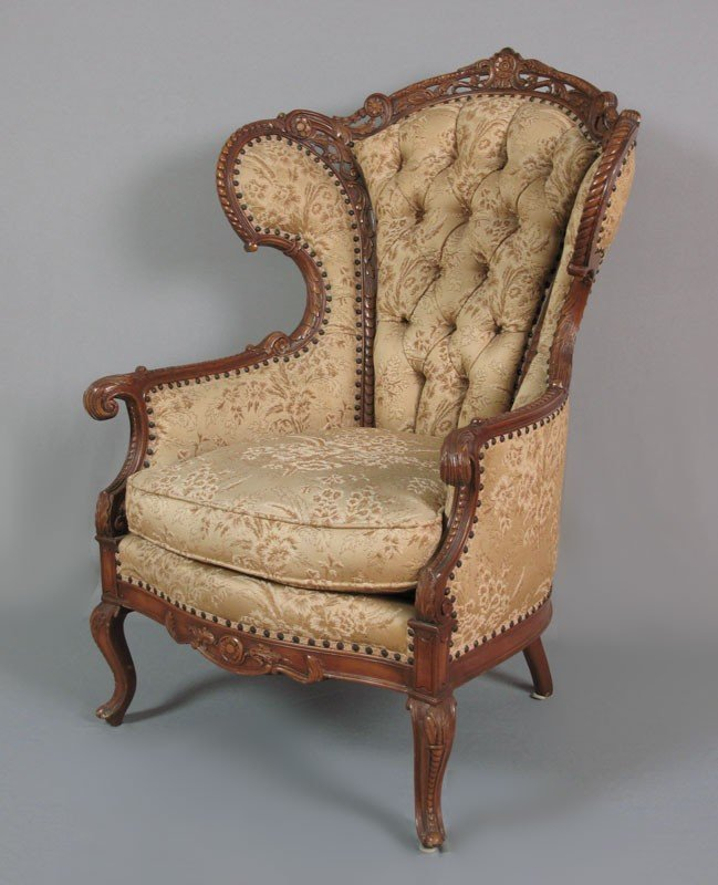 145A FRENCH STYLE CARVED PARLOR CHAIR Lot 145A