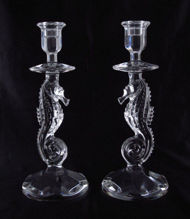 Waterford Crystal Seahorse glasses vase bowls and candlesticks
