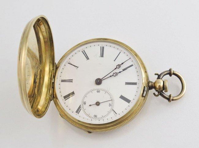 282 antique 14k gold key wind pocket lot 282