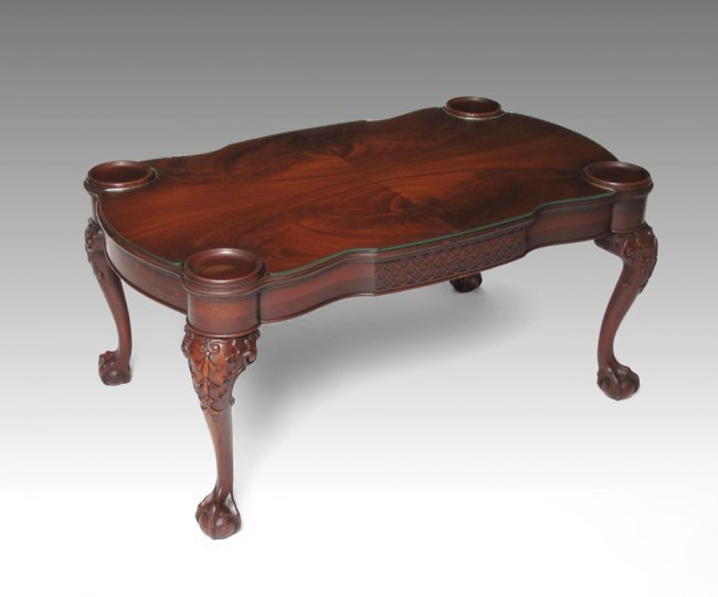 238b Mahogany Ball And Claw Foot Coffee Table Lot 238b