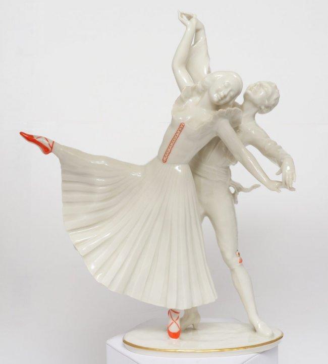 137 hutschenreuther figurine dancers 11 1 4 lot 137. Black Bedroom Furniture Sets. Home Design Ideas