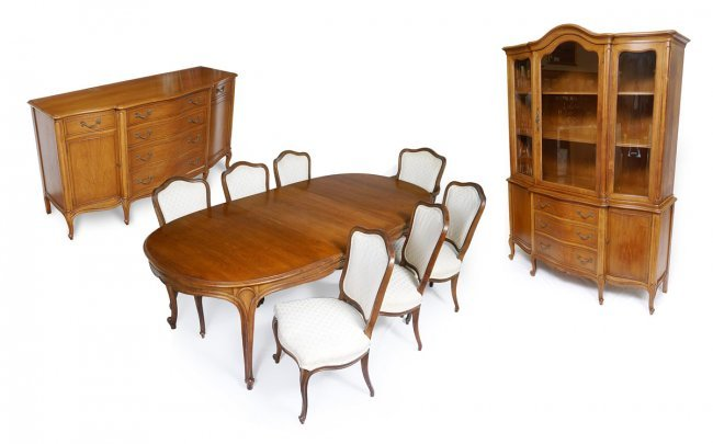 10 pc drexel french style dining room set lot 88
