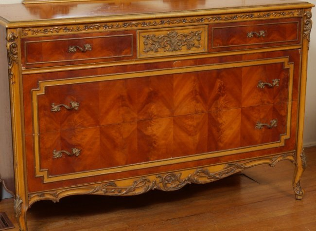 Piece carved french bedroom suite lot