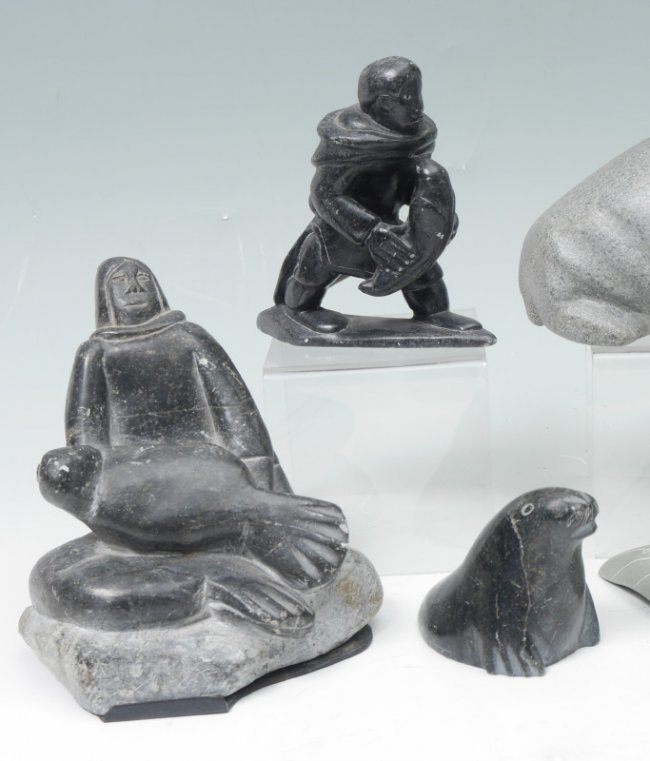 Collection of inuit stone carvings lot a