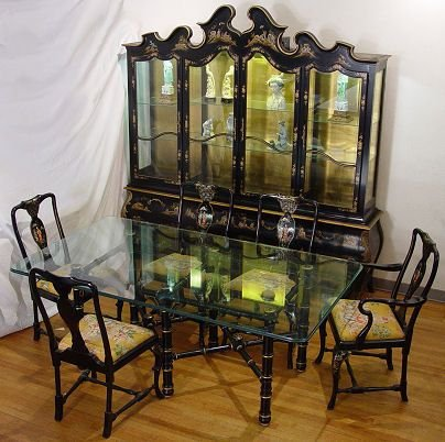 299 chinoiserie dining room set by union national lot 299 for National dining rooms