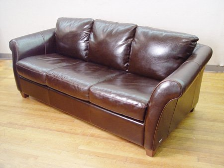1056 Chocolate Brown Leather Sofa By Italsofa Lot 1056