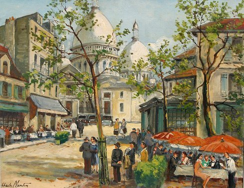 1112: CHARLES BLONDIN PARISIAN PAINTING1112: CHARLES BLONDIN PARISIAN PAINTING