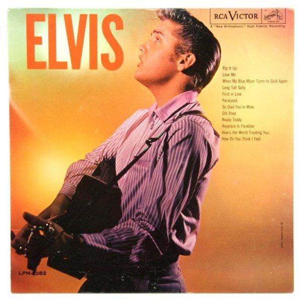 """7: A 1956 LP Album Elvis"""" MONO RCA Victor LPM-1382,"""" : Lot 7"""