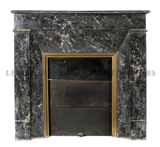 a neoclassical marble fireplace mantel height 39 x wid