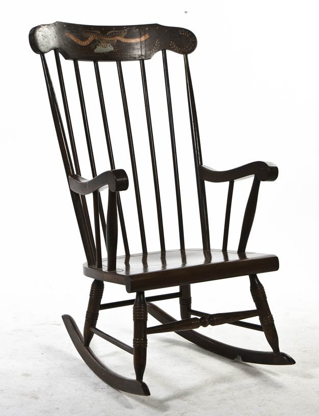 2083 an american windsor style rocking chair height 4 lot 2083