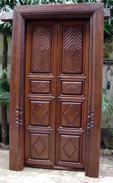 948 a south indian teak double door with jamb height for South indian main door designs