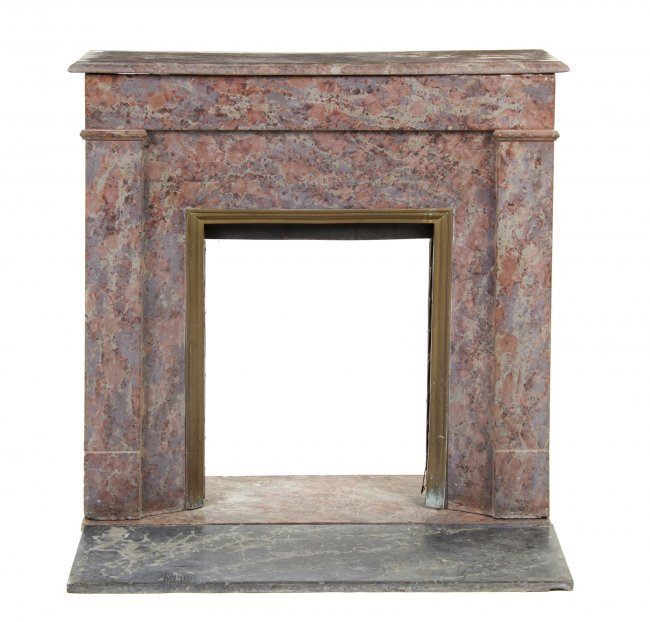 799 A Marble Fireplace Mantel Height 39 X Width 41 1 Lot 799