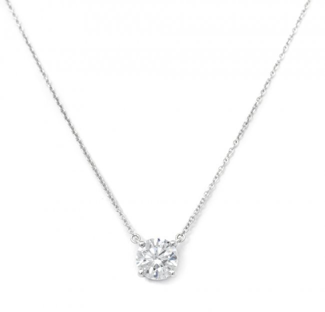 439 a platinum and diamond solitaire necklace tiffany