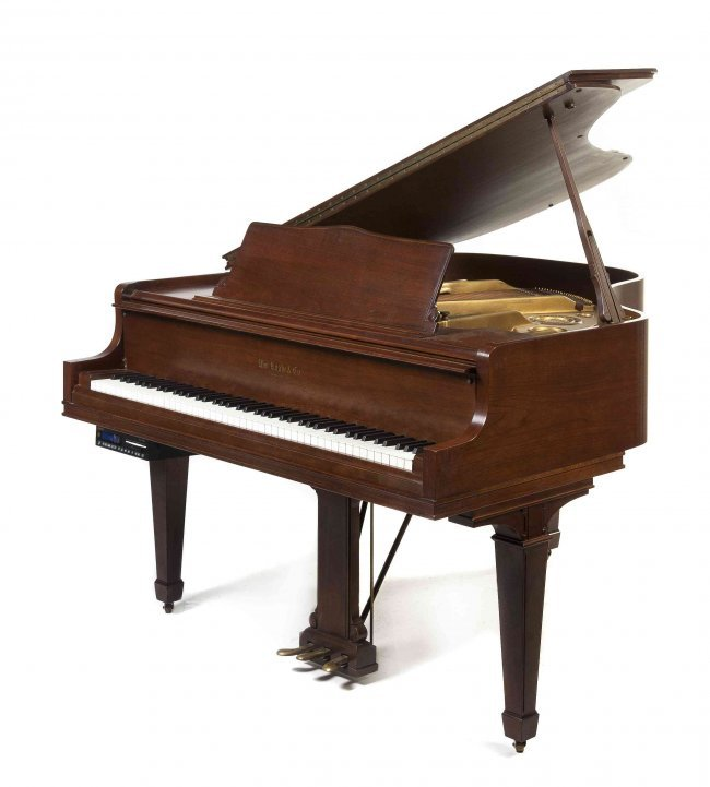 A william knabe co baby grand player piano length for Baby grand piano height