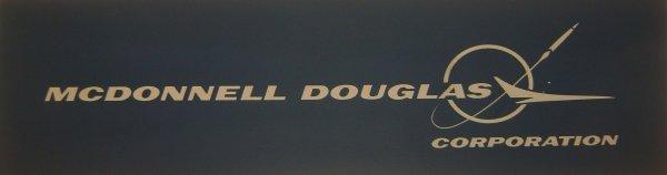 154: McDonnell Douglas Logo Poster Board Plaque : Lot 154