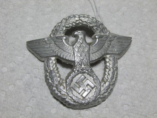 Nazi German Police Cap Eagle Badge Insignia : Lot 101X