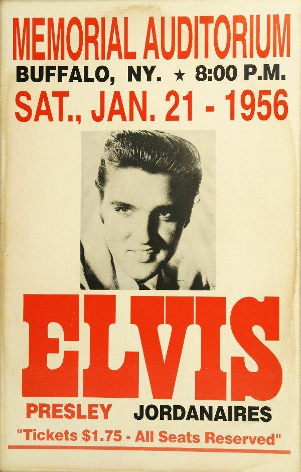 230 elvis presley 1956 concert poster lot 230