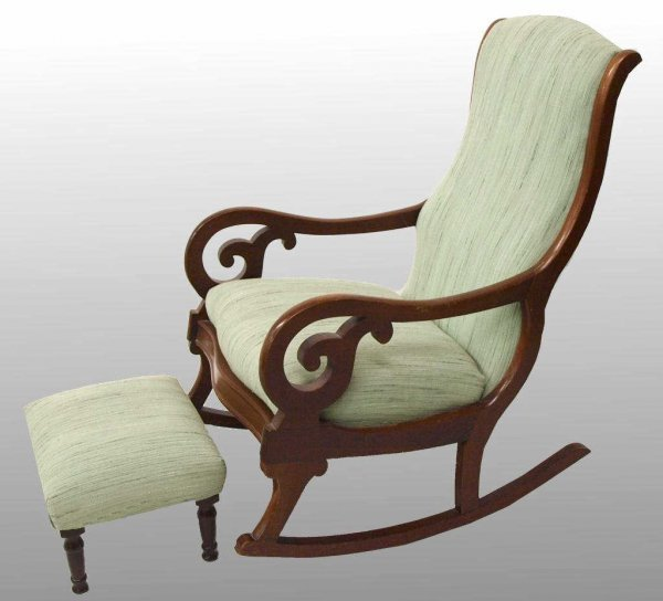 For Sale – Antique Lincoln Rocking Chair With Cane Back  Seat